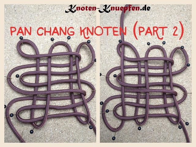 Chinesischer Knoten / Glücksknoten: Pan Chang Knoten Anleitung Part 2
